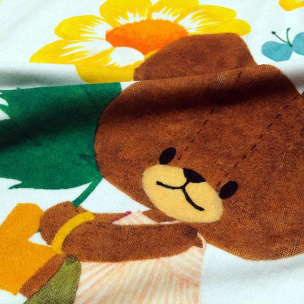 画像3: くまのがっこう【FLOWERS】オレンジ:バスタオル単品