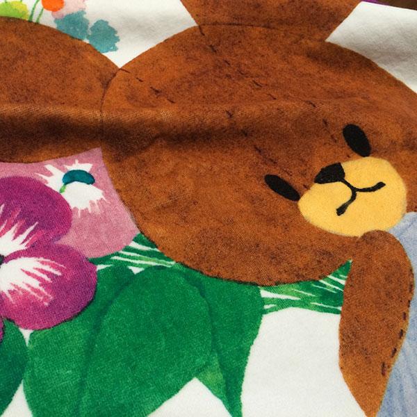 画像3: くまのがっこう【FLOWERS】パープル:バスタオル単品