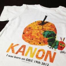 画像2: はらぺこあおむし|名前入りTシャツ|FRUIT:フルーツ|オレンジ (2)