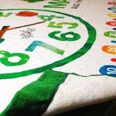 画像2: はらぺこあおむし|名前入り今治製バスタオル|EC-CLOCK:ECクロック|グリーン (2)
