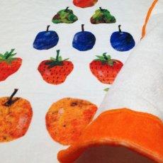 画像3: はらぺこあおむし|名前入り今治製バスタオル|TRIANGLE:トライアングル|オレンジ (3)