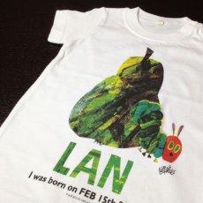 画像2: はらぺこあおむし【SUN & FRUIT】グリーン:Tシャツ+スポーツタオルセット (2)