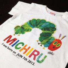 画像2: はらぺこあおむし【POP】ライムグリーン:Tシャツ+スポーツタオルセット (2)
