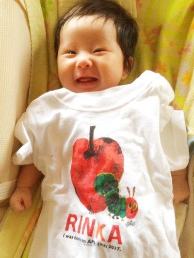 画像1: はらぺこあおむし|名前入りTシャツ|FRUIT:フルーツ|りんご