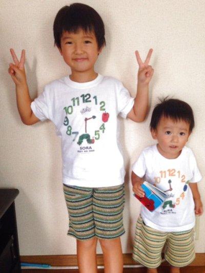 画像2: はらぺこあおむし|名前入りTシャツ|EC-CLOCK:ECクロック|グリーン