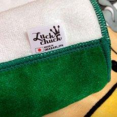 画像4: かいじゅうステップ|名前入り今治製バスタオル|KAIJU BALLOON:かいじゅうバルーン|グリーン (4)