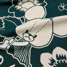 画像2: くまのがっこう|名前入り今治製コットンブランケット|おくるみサイズ|FLOWERS:フラワーズ|フォレストグリーン (2)