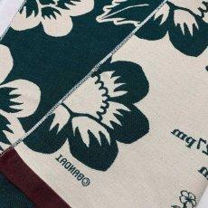 画像5: くまのがっこう|名前入り今治製コットンブランケット|おくるみサイズ|FLOWERS:フラワーズ|フォレストグリーン (5)