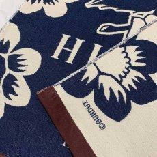 画像5: くまのがっこう|名前入り今治製コットンブランケット|おくるみサイズ|FLOWERS:フラワーズ|インディゴブルー (5)