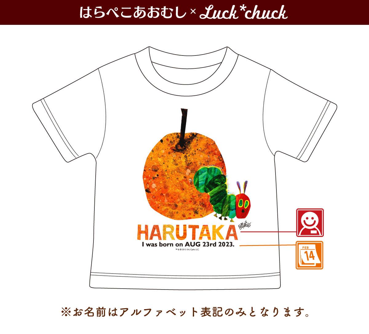 名前入り Tシャツ はらぺこあおむし FRUIT フルーツ オレンジ 説明