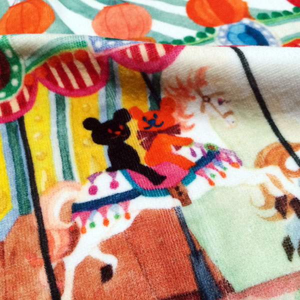 画像4: くまのがっこう【MERRY GO ROUND】ピンク:バスタオル単品