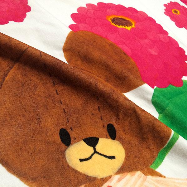 画像3: くまのがっこう【FLOWERS】ピンク:バスタオル単品
