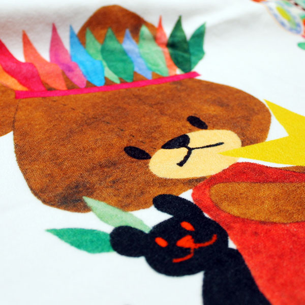 画像3: くまのがっこう【MERRY GO ROUND】ピンク:バスタオル単品